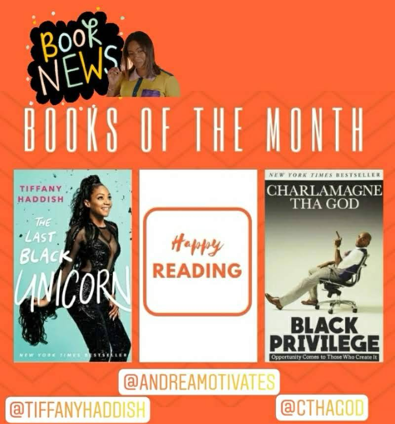 BOOKS OF THE MONTH: Tiffany Haddish & Charlamagne Tha God